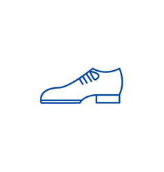 groom shoes line icon concept groom shoes flat vector image