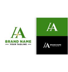 Ha logo monogram luxury editable vector