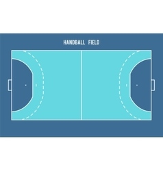 Handball field Top view vector image