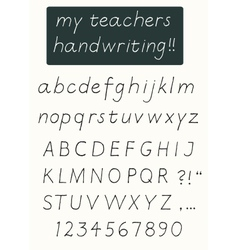Handwriting alphabet vector image