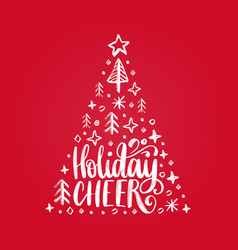 handwritten phrase holidays cheer vector image