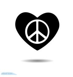Heart icon symbol of love valentine pacific vector