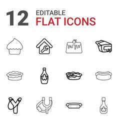 Homemade icons vector