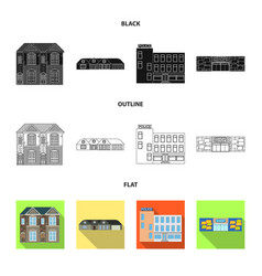 Isolated object of building and front icon vector