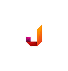 j ribbon letter logo icon design vector image