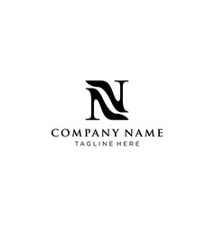 Letter n with shoes logo design concept vector