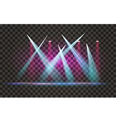 Light Effect Spotlight with Transparent Background vector