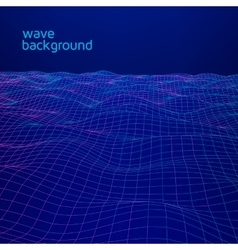 Line wave geometric background vector image
