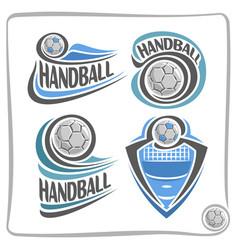 Logo handball ball vector
