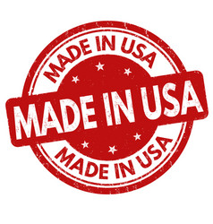 Made in usa sign or stamp vector