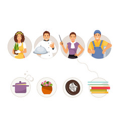 Match professions and objects vector