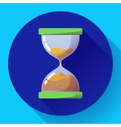 Old vintage hourglass icon flat - time vector