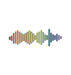 Pulse music player vector