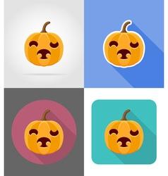 Pumpkins for halloween flat icons 11 vector