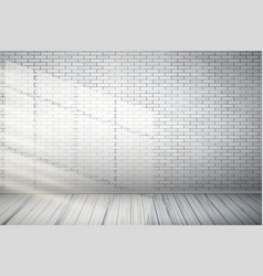 red brick wall room vector image