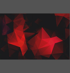 red polygonal shape background vector image