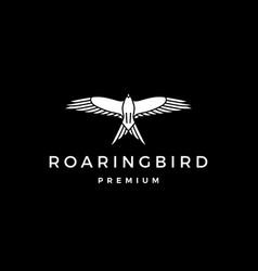 roaring bird logo icon vector image