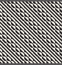seamless black and white halftone lines vector image