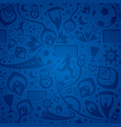 Seamless blue soccer background vector