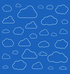 set clouds isolated on sky background seamless vector image