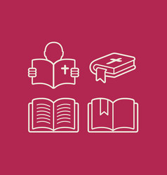 Set of bibles vector