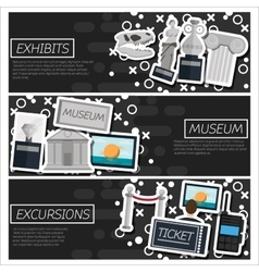 Set of Horizontal Banners about museum vector image