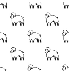 Sheep icon black Single bio eco organic product vector image