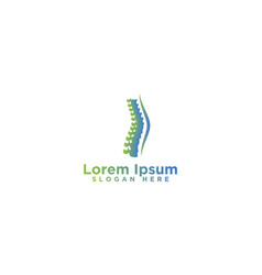 Spine logo designs vector