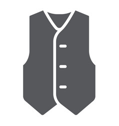 Waistcoat glyph icon clothes and suit formal vector