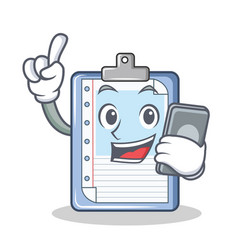 With phone clipboard character cartoon style vector