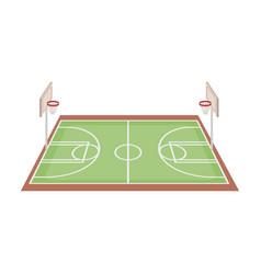 basketball courtbasketball single icon in cartoon vector image