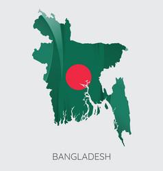 map of bangladesh vector image vector image