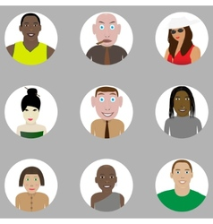 People set vector image vector image