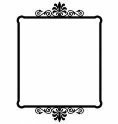 wrought iron frame vector image