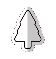 christmas tree ornament cut line vector image