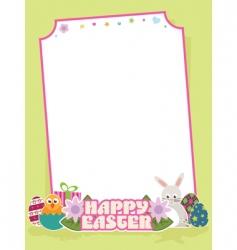 Easter frame vector image vector image