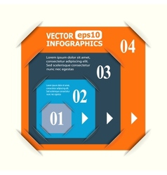 Abstract paper infografics vector image vector image