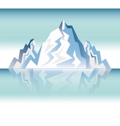 landscape snowy mountain design vector image vector image