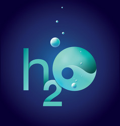 water h2o emblem vector image vector image
