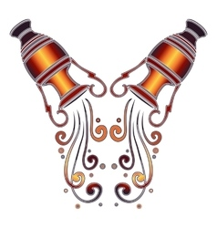 Bright amphora zodiac Aquarius sign vector image vector image