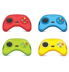 Color Gamepad Set vector image