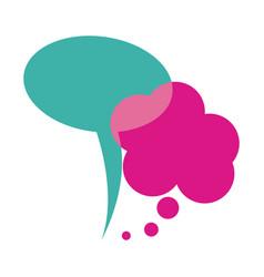 Colorful set dialog cloud icon vector