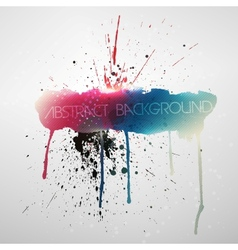 Paint splat grungy background vector image