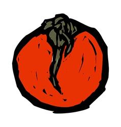 A persimmon vector