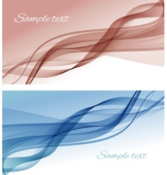 Abstract color smoke background vector
