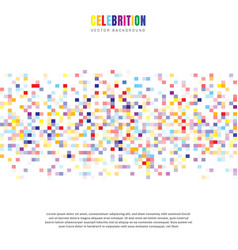 abstract elements celebration colorful squares vector image
