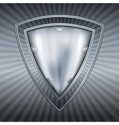 abstract steel shield vector image
