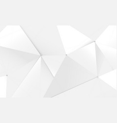 abstract white 3d low polygon and lines technology vector image