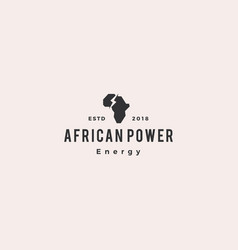 africa power energy logo hipster retro vintage vector image