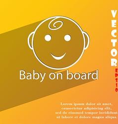 Baby on board icon symbol flat modern web design vector